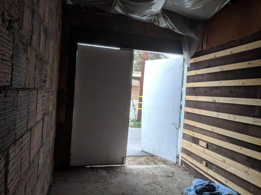non operational garage door in corona, ca