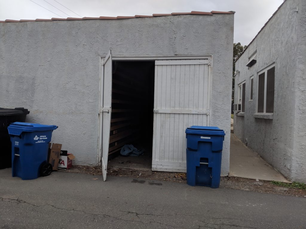 old garage door in corona, ca