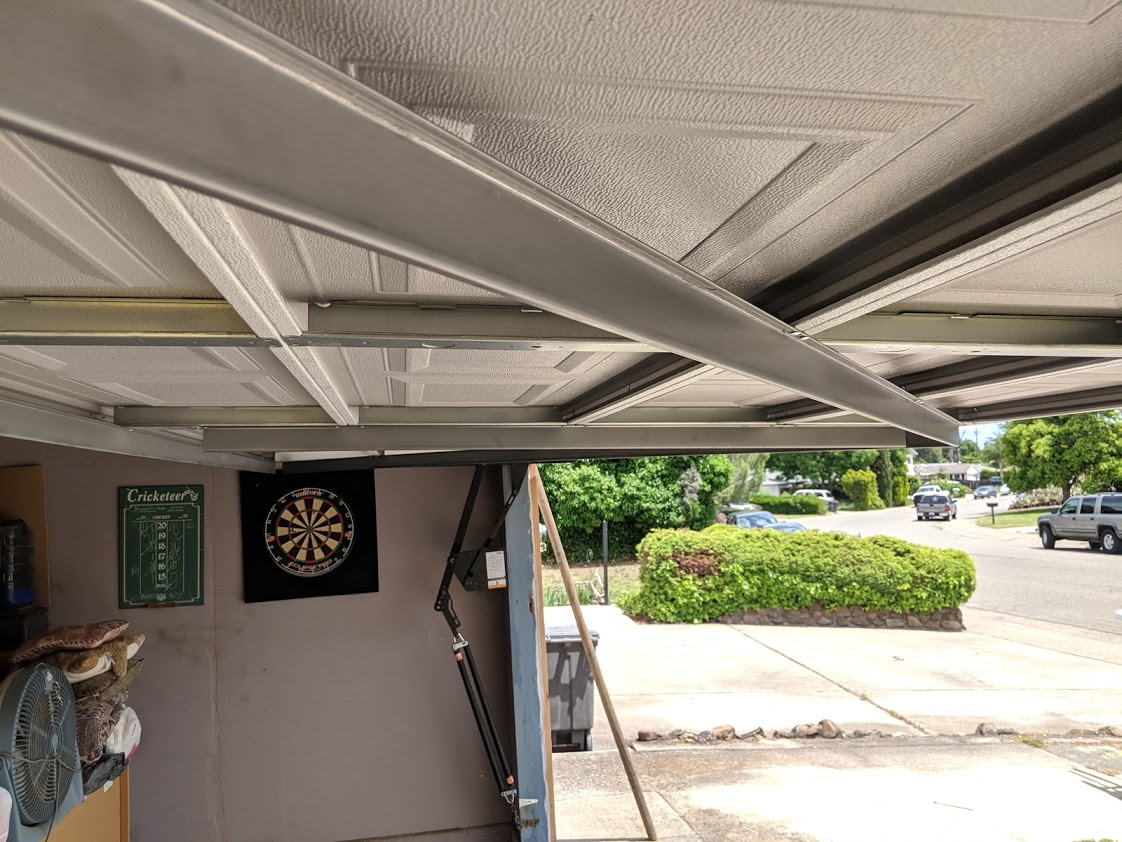 tilt open garage door